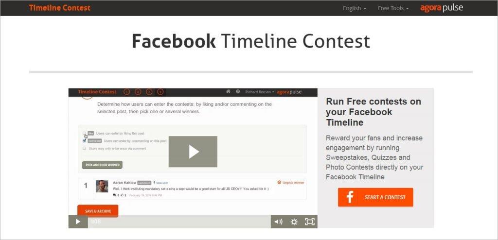 FaceBook Timeline Contest Manager