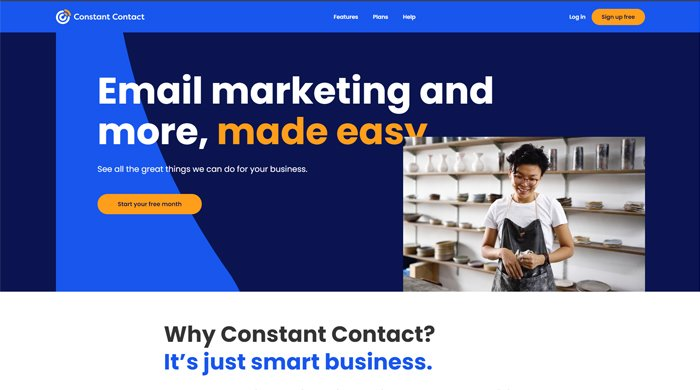 Best free email marketing tools-constant contact